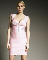 Вечернее платье HL women's pink bandage dress, cocktail dress and party dress with sexy style