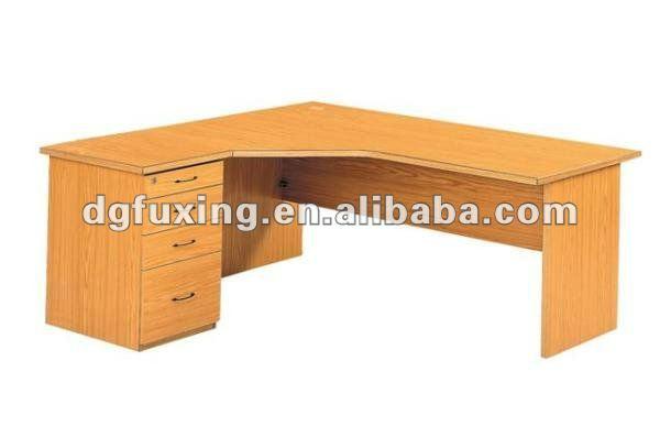 En forma de l de madera escritorio gerente escritorio - Escritorio en esquina ...