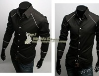 Free Shipping New Mens Shirts Casual Slim Fit Stylish  Shirts  US Size:XS,S,M, Y1674
