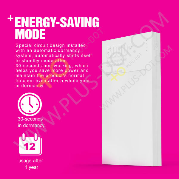 2013 Plusdot Intelligent Design Patened Products Power Bank 5000mAh China Supplier