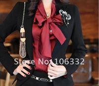 Женский костюм с юбкой new office lady formal skirt suit women, 1 suit =Jacket + Shirt + Skirt, with corsage, size M, L, XL, XXL