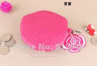 Монетница coin purse / rose wallet /PU purse bag / 15 colours for your choice / & retail