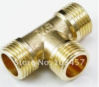"10pcs/lot  3 Ways 3/8"" Tee Male BSPP Brass Coupler Adapter  directly from manufacturer"