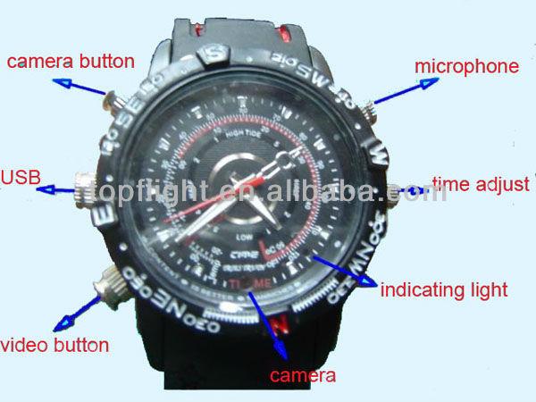 Nuovo 4gb/8gb dvr orologio da polso impermeabile 1280*960 guardare telecamera nascosta registratore video hd guardare dvr