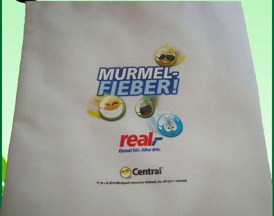 ECO friendly polyester blend cotton drawstring bag