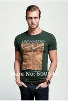 100% Cotton Stylish Printing Series The Da Vinci Code Men's Fashion T-shirt Summer Hotsale Tee Tops Drop Shipping Offered Kg042