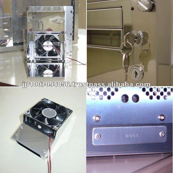 Boîtier atx japonais,/ordinateur dernier cri de pièces en acierinoxydable
