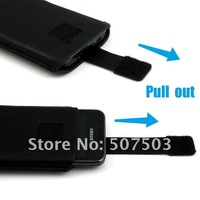 20PCs/lot  For Galaxy S2 Case Leather Pocket Case Pouch For Samsung i9100 Mobile Phone Case with  Pull out function