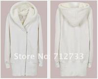 Розничная новейшие осенью тонкий Корея женщины Толстовки пальто теплое застегивать верхней 3 цвета 4 размер