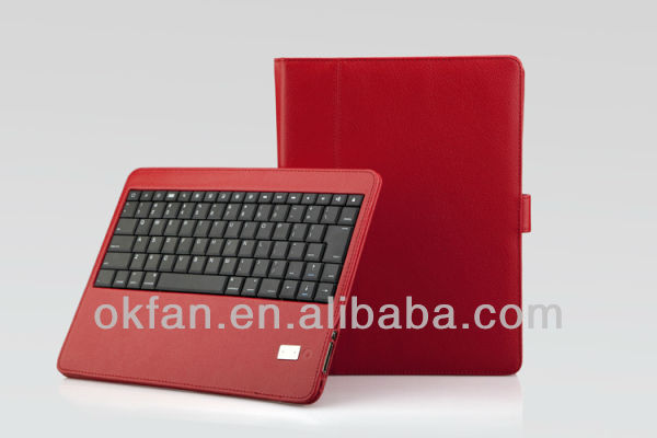 Folio Leather Case with Detachable Bluetooth Keyboard for iPad 2 /3 /4