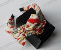 2013 New Arrival Floral Double Bow Headband #4Color