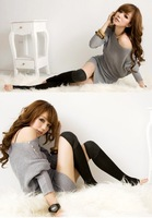 Женский пуловер Shipping Shining Knitwear Rivet Solid Color Slim Fashion Sweater 3/4 Long Sleeve Fashion 2 Colors And Retail