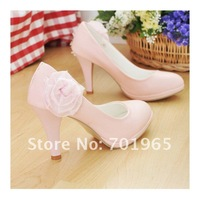 Туфли на высоком каблуке 2012 New Sweet Flowers Stiletto The Temperament Single Shoes