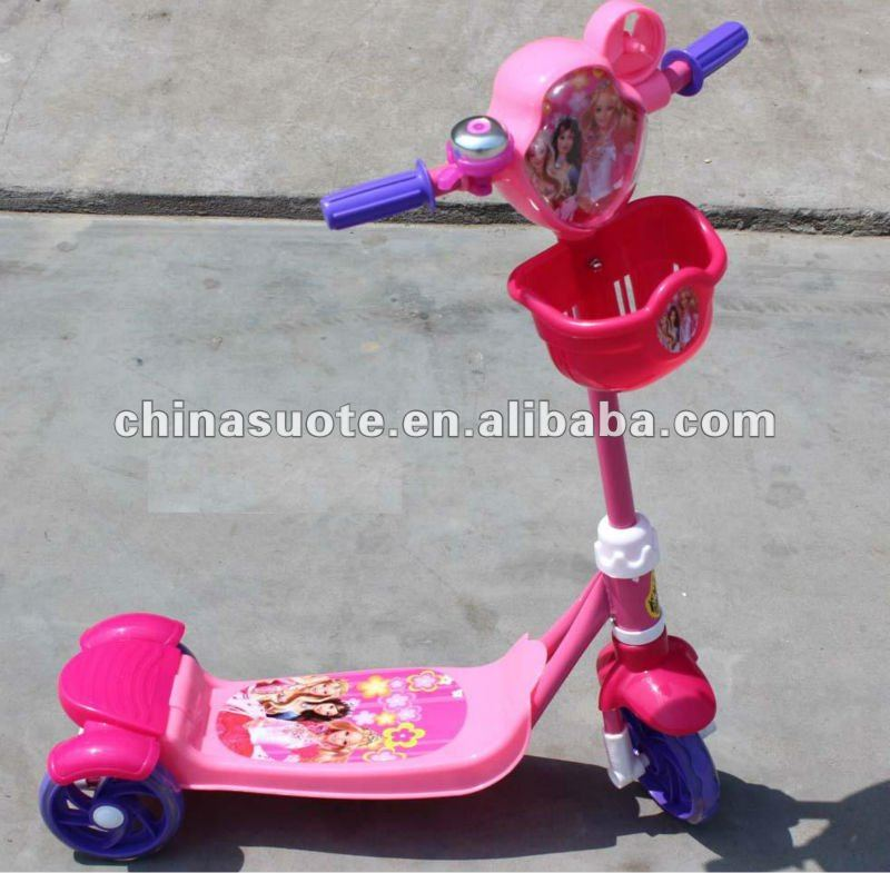 two rear wheels child mini scooter with good quality