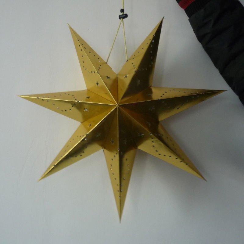 Xmas paper star hanging decoration view xmas paper star - Fabrication d une couronne de noel ...