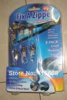 Замок для одежды 10pcs/lot whosesale AS SEEN ON TV fix a zipper fix broken zipper magic zipper slider