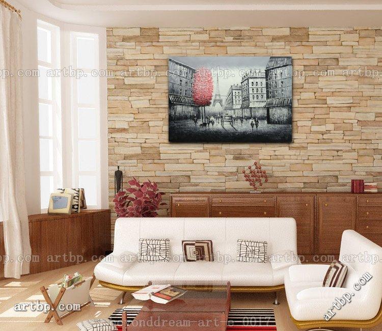 Pintura Impresionismo De Paisaje Hermoso Para Dormitorios