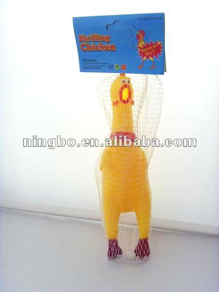 Rubber Shrilling Screaming Chicken Relax Toy for Child