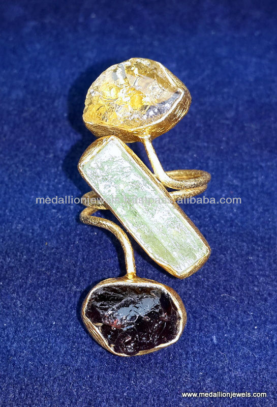 Amethyst Rough Gemstones Vermeil Jewelry,Raw Gemstones 18 Kt Gold ...