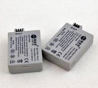 2pcs DSTE 1200mAh  Battery LP-E5 LPE5 for Canon EOS 450D/ 500D/1000D Rebel Kiss X2