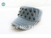 Новая мода прохладно ретро плоский колпачок череп cap hat мужчин и женщин же пункте пара бесплатно shippinh