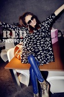 Футболка 2012 NEW/Fashion/plus size/loose/sexy/print lips/long sleeve/T-shirt/Tops/RG1208053