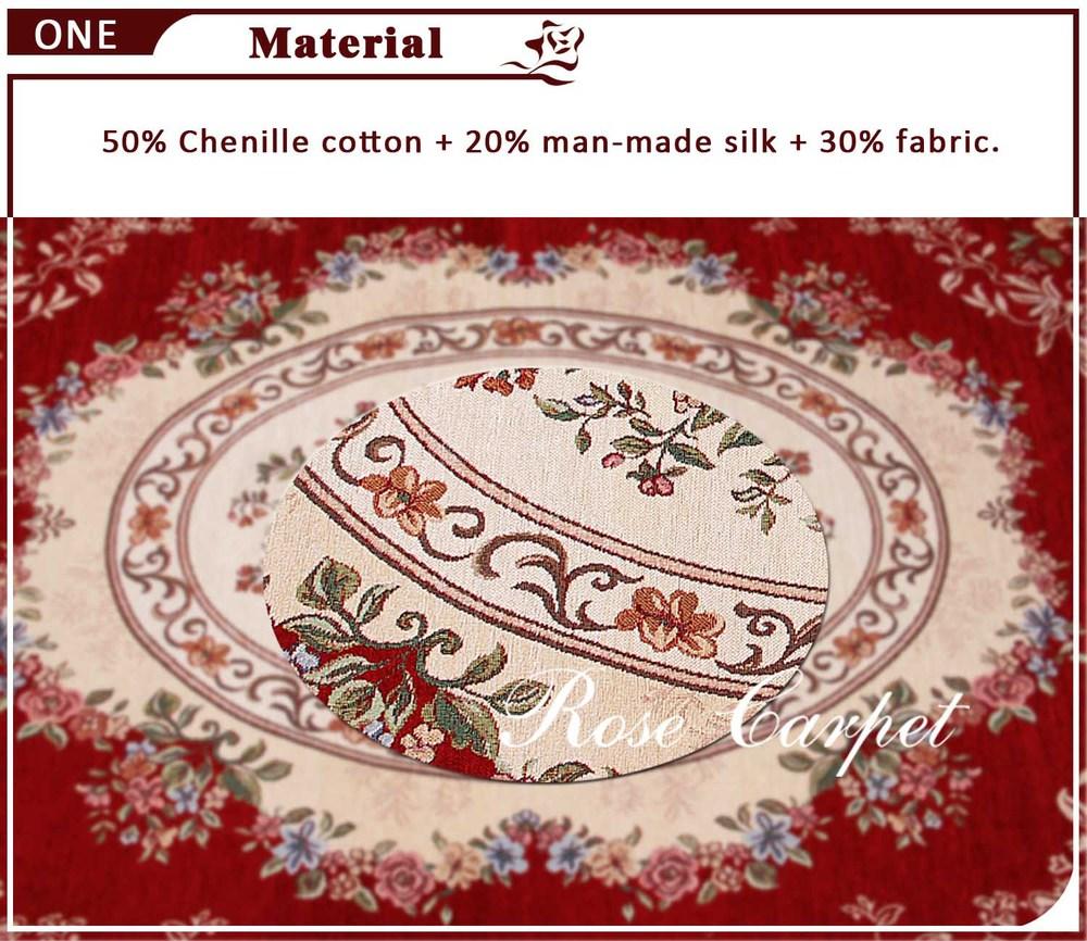 Luxe tapijten chenille tapijt bordeaux europees land stijl karpetten chique bloementapijten voor - Stijl land keuken chique ...