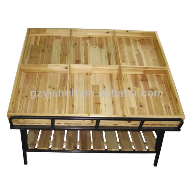 Supermarket Wooden Fruit Vegetable Display Rack - Buy Fruit Vegetable ...