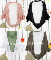 Женские блузки и Рубашки 2012 New women's blouses thin shawl cardigan sweater small sleeveless shirt S121