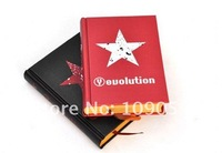Free Shipping/Wholesale/ Fashion red and black star blank page doodle  Notebook/Diary book/notepad/Paper book