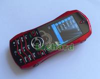 Мобильный телефон Luxury Car Phone F9 Dual Band Dual Sim Metal Cover Russian Keyboard