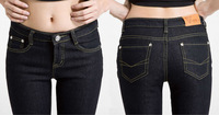 2012 skinny pants slim plus size pencil pants thickening plus Wowen's Jeans 021