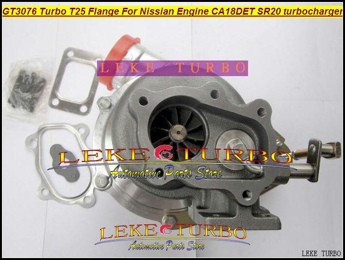 GT3076 Turbo T25 Flange For Nissian Engine CA18DET SR20 Turbocharger (6)
