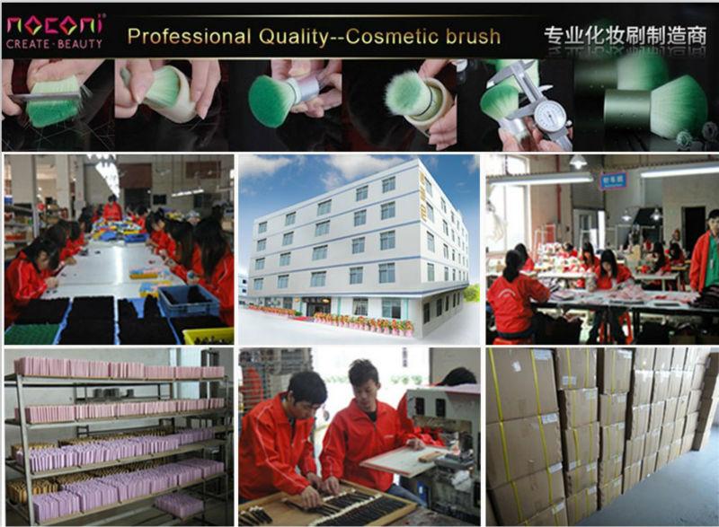 hot sell 18pcs professional high quality nylon cosmetic brush set make up set crocodile pattern pu bag