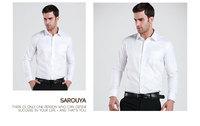 Мужская классическая рубашка Men's Fashion Dress Shirt cool of Pocket Long Sleeve Shirt Size 37-44 S-5XL MCL228