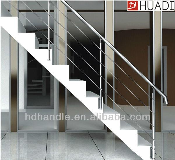Stainless steel indoor stairs handrail designs stainless - Steel stair railing design ...