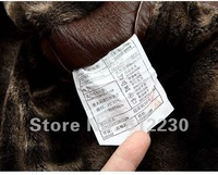 Free shipping Men's Faux Leather Jackets Artificial Fur collar Double breasted Black Brown Yellow M,L XL D06 Drop Ship