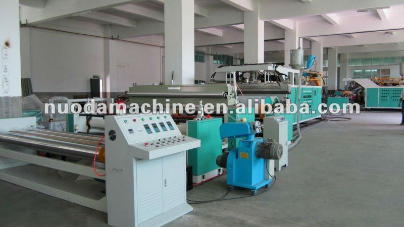 90/110/120mm single screw plastic film extruder machine