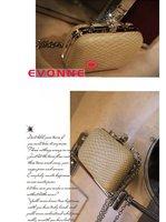 Клатч 2012 High Quality Women's Handbag Fashion Day Clutches Bag Handbag Quilting Chain Beige Color