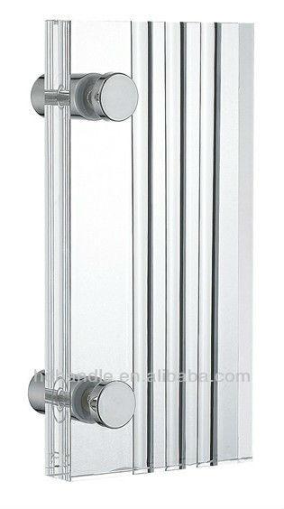 Porte poign e de douche en acrylique pour verre cabines de for Porte douche plexiglas