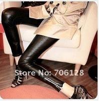 Женские брюки NEW! KO KO 2012 Korean version of the avant-garde fashion imitation leather matt pantyhose leggings