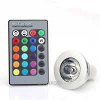 Светодиодная лампа 1 3 GU10 Farbwechsel RGB Licht Birne ir Fernbedienung 80188