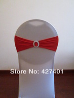 Накидка на стул Red Lycra Band With Oval Buckle for Wedding Decoration
