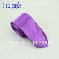 Мужской галстук high quality 5cm korean polyester solid men slim neckties casual Skinny Tie men accessories 33g