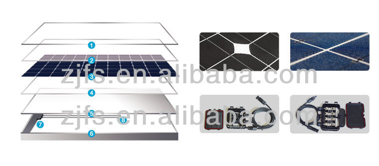 High quality mono small solar panel 50 watt for sale
