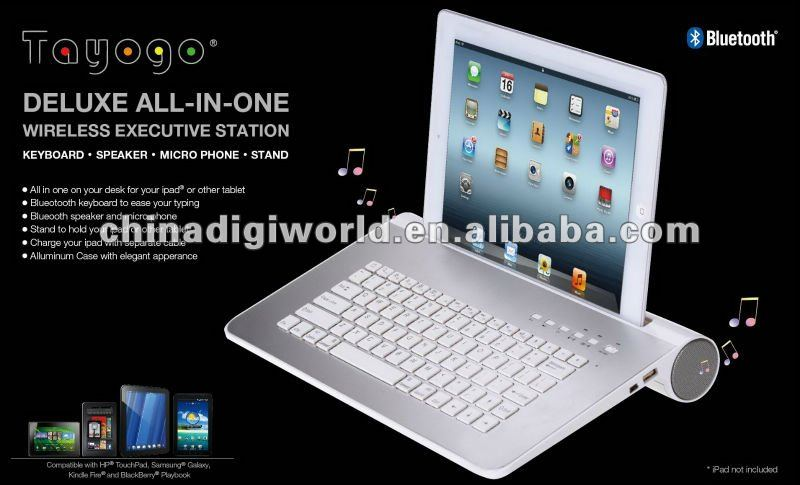 Universal Bluetooth wireless keyboard & Speaker system new for 2013