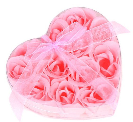 wholesale washing cleaning bath rose Flower paper petals soap gift organtic wedding favor mulit color two-tone 12pc/set bowknot