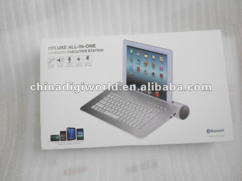 Universal Bluetooth wireless keyboard,speaker system new