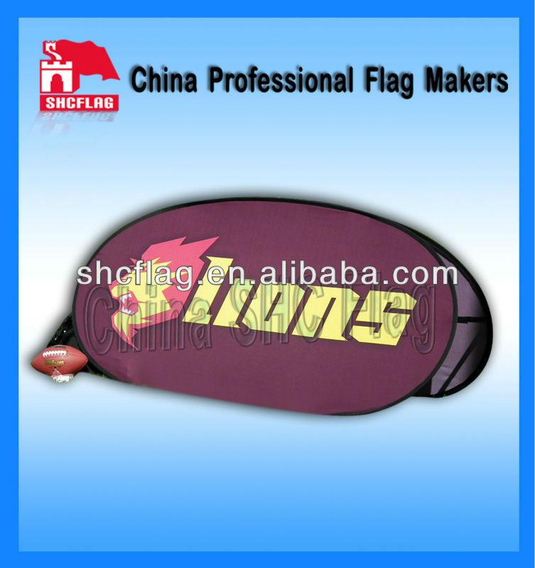 2012 novo estilo de tecido ao ar livre Uma moldura pop up banners