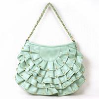 Вечерняя сумка Women Designer Fanshaped Rivet Scale Layer Hobos Shoulder Bags Chain Messenger Hand Evening Bags Women's Handbags